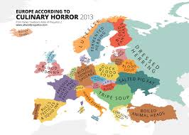 Europe On Map by Disgusting Dishes U0026 Culinary Horrors Of Europe On Brilliant Maps