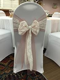 lace chair covers chair covers with vintage pink organza sash doubled up with white