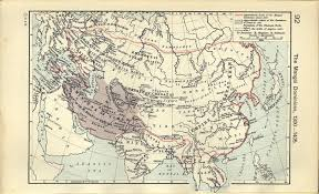 Mongol Empire Map Historical Atlas By William R Shepherd Perry Castañeda Map