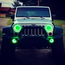 Led Lights For Jeeps Jeep Wrangler Halo Headlights 7