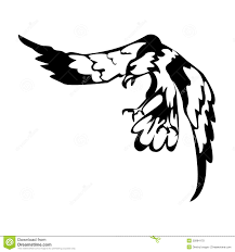 eagle in black and white color illustration stock vector image