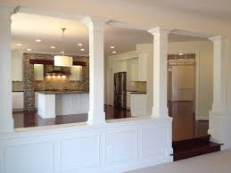 kitchen half wall ideas basement half walls and design columns ideas basement masters