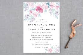 poetic watercolor flowers wedding invitations by qing ji minted