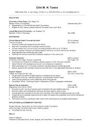 Mental Health Counselor Job Description Resume by Resume For Mental Health Counselor