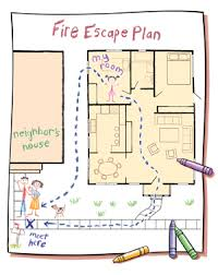 Floor Plans For Kids Making A Fire Safety Action Plan