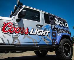 jeep beer tire cover coors light jeep design full die cut decals on behance