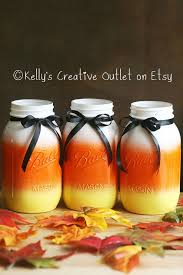 Mason Jar Candle Ideas Halloween Decor Halloween Candy Corn Mason Jar