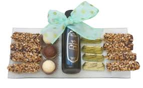 oh nuts purim baskets glass tray with chocolate liquor israel only purim baskets