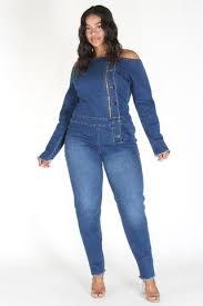 plus size denim jumpsuit shop plus size rompers jumpsuits plussizefix plussizefix