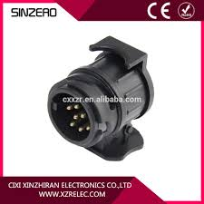 7 to 13 pin trailer plug black plastic trailer wiring connector