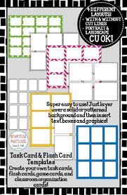 task card u0026 flash card templates commercial use ok template