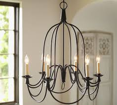 French Wire Chandelier Armonk 6 Arm Indoor Outdoor Chandelier Pottery Barn