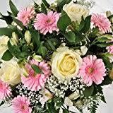birthday presents delivered next day bright yellow fresh flower gift basket with handwritten card