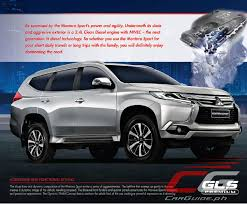 white mitsubishi montero mitsubishi motors philippines adds more features to montero sport