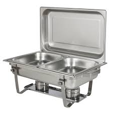 chafing dish set of 2 8 quart stainless steel full size tray