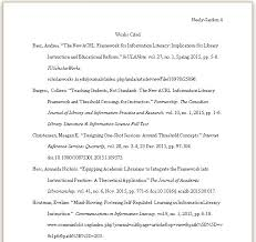 work cited page example mla works cited in text citations ppt