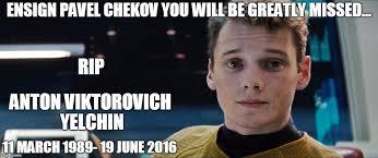 Meme Generator Star Trek - star trek chekov imgflip
