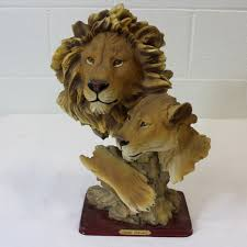 lioness sculpture chi collection lion and lioness sculpture shopgoodwill