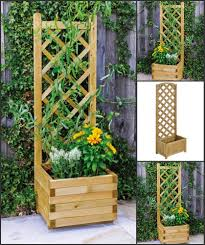 fencing planters climbing plants balcony decking patio trellis