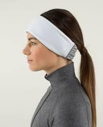 headband ear warmer lululemon frosty run ear warmer lace black lulu fanatics