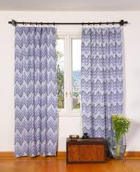 blue ikat curtain