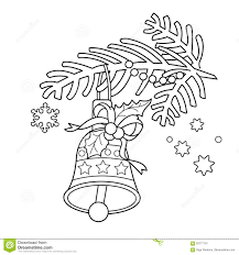 christmas bell outline christmas bells coloring pages