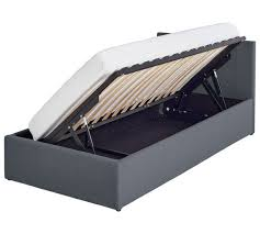 Single Ottoman Bed Buy Hygena Lavendon Single Fabric Ottoman Bed Frame Grey At