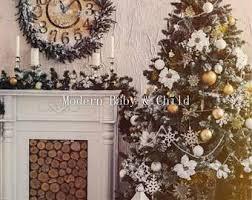 christmas fireplace etsy