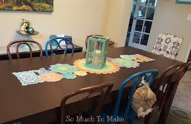 dyed vintage doily table runner so much to make