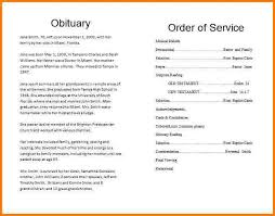 sle memorial programs funeral notice template printable sunset obituary program
