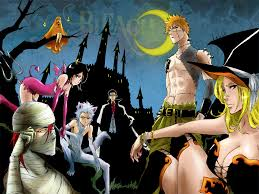 halloween background anime bleach halloween anime and manga mix pinterest