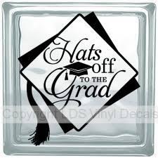 graduation vinyl graduation vinyl for glass blocks lds enrichment nights