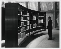 beinecke rare book and manuscript library photograph of unidentified man viewing contents of displa u2026 flickr