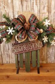wreath swag door wreath sleigh bells