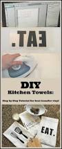 diy custom kitchen towels using a heat transfer image my life