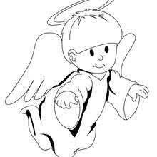 angel color pages holly and angel coloring pages hellokids com