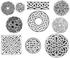 celtic circle and square knot designs tattoos