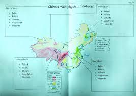 China Physical Map by China U0027s Main Physical Map Thinglink