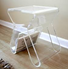 delightful vintage lucite side table rolling night stand small