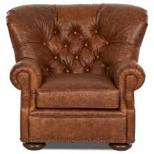 Klaussner Furniture Warranty Tufted Leather Chair And Ottoman Set By Klaussner Wolf And