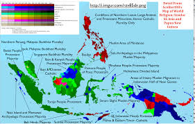 Asia Geography Map Intriguing Patterns In Scolbert08 U0027s Map Of Religion In Insular