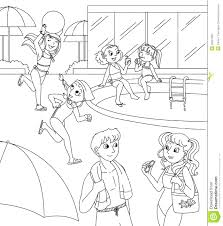 coloring pages summer pool coloring pages free free