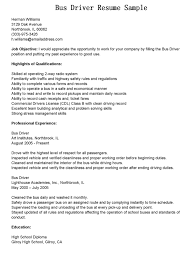 Resume Samples Job Description by Bus Driver Job Description For Resume
