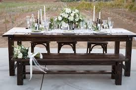 table rentals wood table rentals 42 rustic events