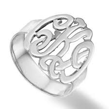 monogramed rings cutout monogram ring personally preppy