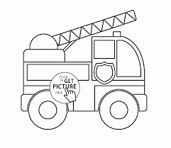 toy fire truck coloring page for preschoolers transportation