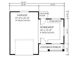 garage workshop plans one car garage workshop plan 010g 0005