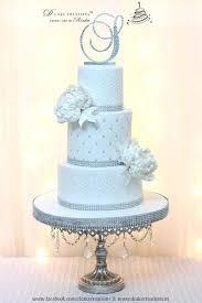 white bling wedding cake cakecentral com