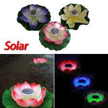 Floating Solar Pond Lights - discount floating solar lights for ponds 2017 floating solar