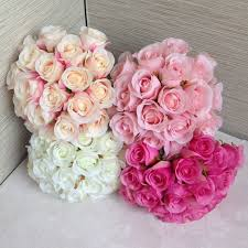 silk roses silk bouquet for bridesmaids artificial flower bouquets